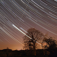 startrails venus and iss