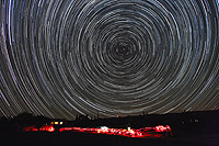 startrails polaris and observers